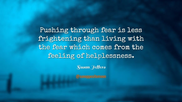 pushing through fear SOM