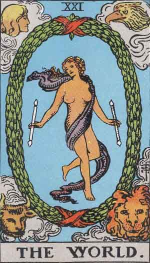 RWS_Tarot_21_World SOM